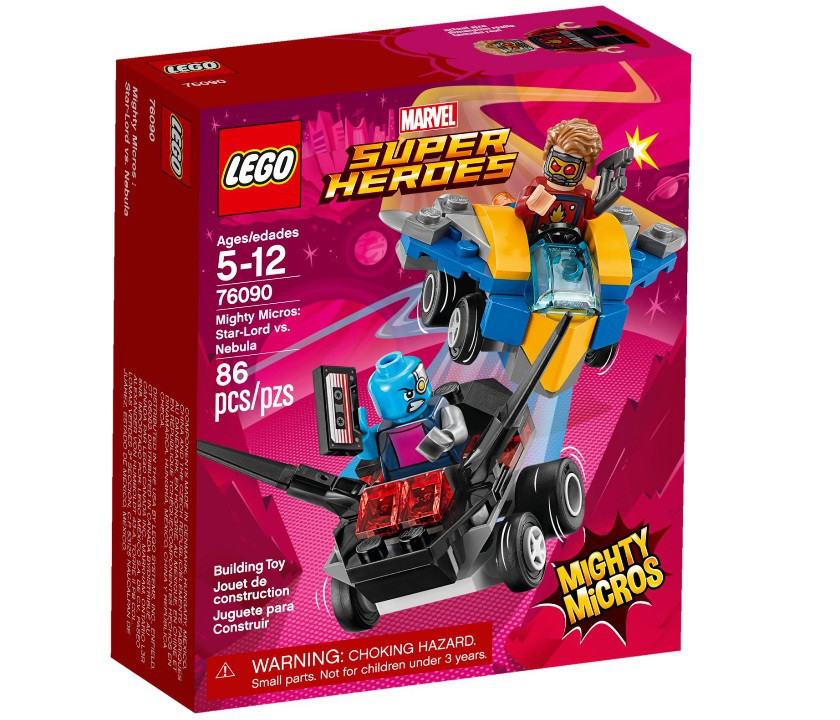 76090 Lego Super Heroes Mighty Micros: Звёздный Лорд против Небулы, Лего Супергерои Marvel