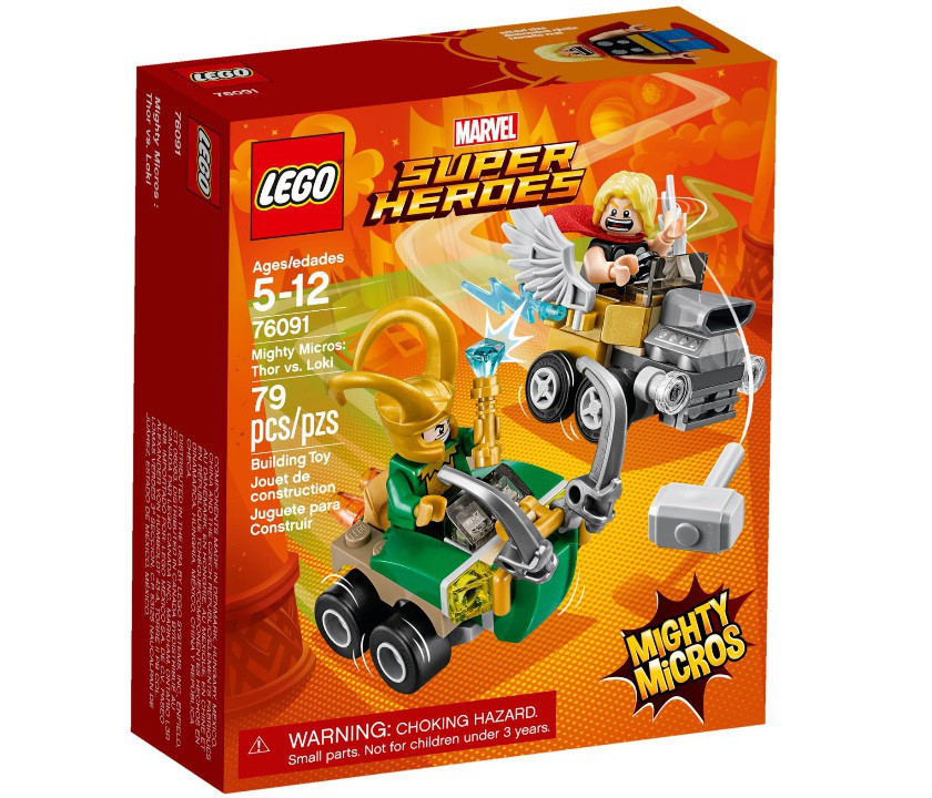 76091 Lego Super Heroes Mighty Micros: Тор против Локи, Лего Супергерои Marvel