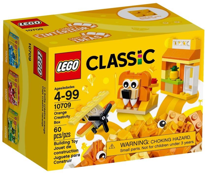 10709 Lego Classic Оранжевый набор для творчества, Лего Классик