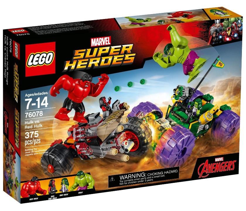 76078 Lego Super Heroes Халк против Красного Халка, Лего Супергерои Marvel