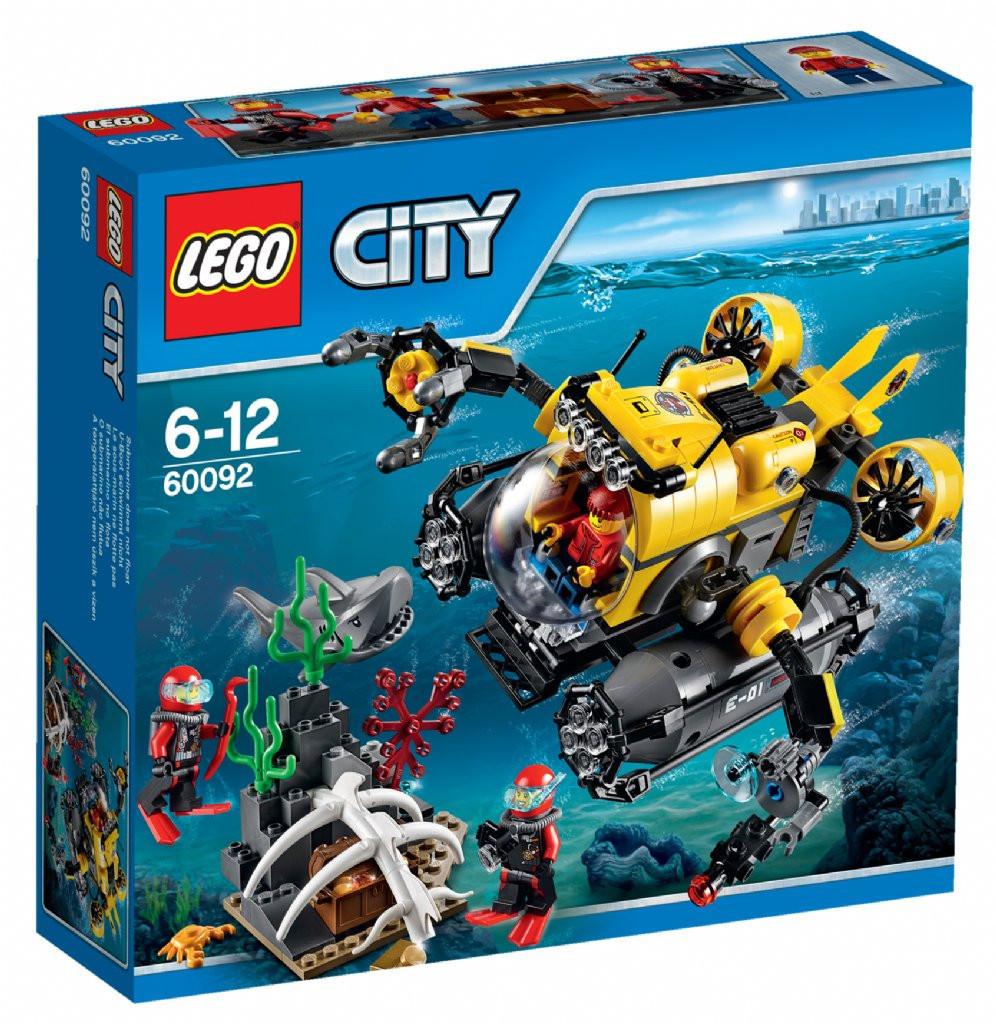 60092 Lego City Глубоководная подводная лодка, Лего Город Сити
