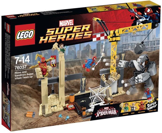 76037 Lego Super Heroes Носорог и Песочный человек против Супергероев, Лего Супергерои Marvel