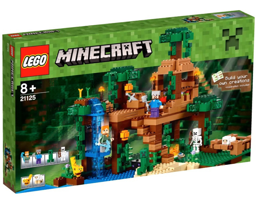 21125 Lego Minecraft Домик на дереве в джунглях, Лего Майнкрафт