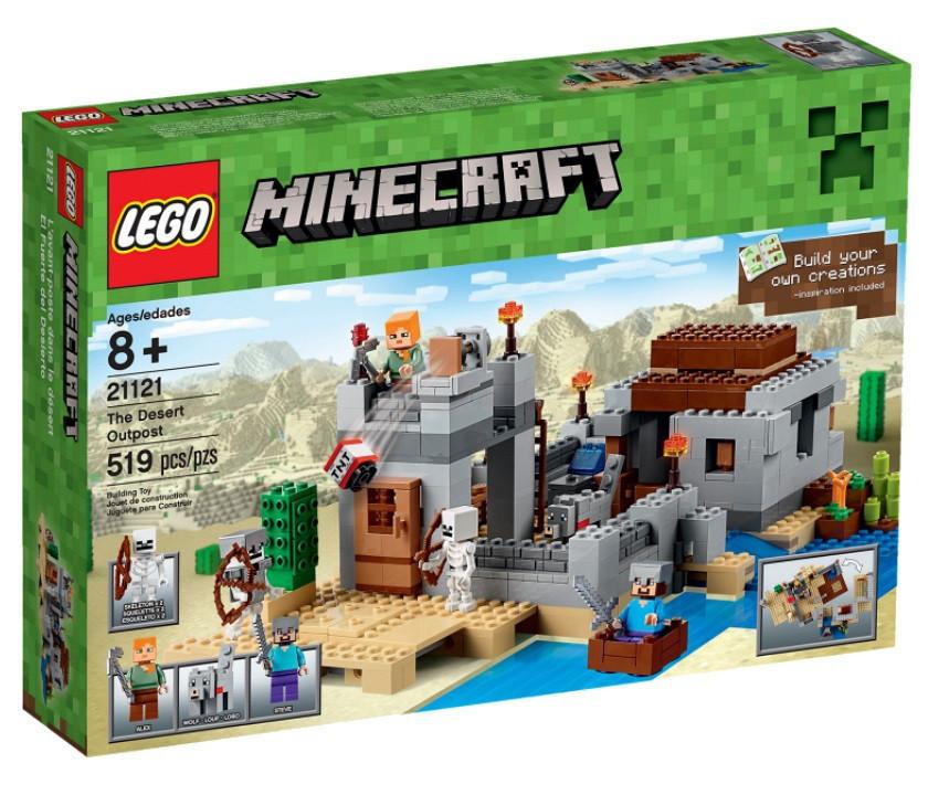 21121 Lego Minecraft Застава в пустыне, Лего Майнкрафт