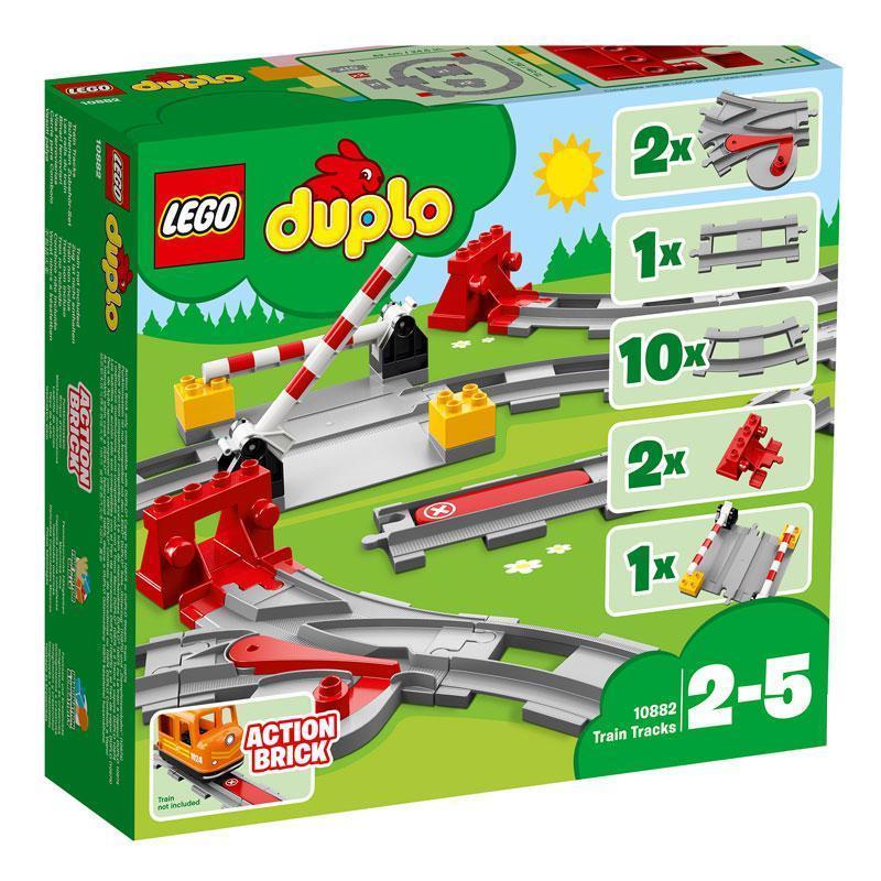 10882 Lego Duplo Рельсы и стрелки, Лего Дупло