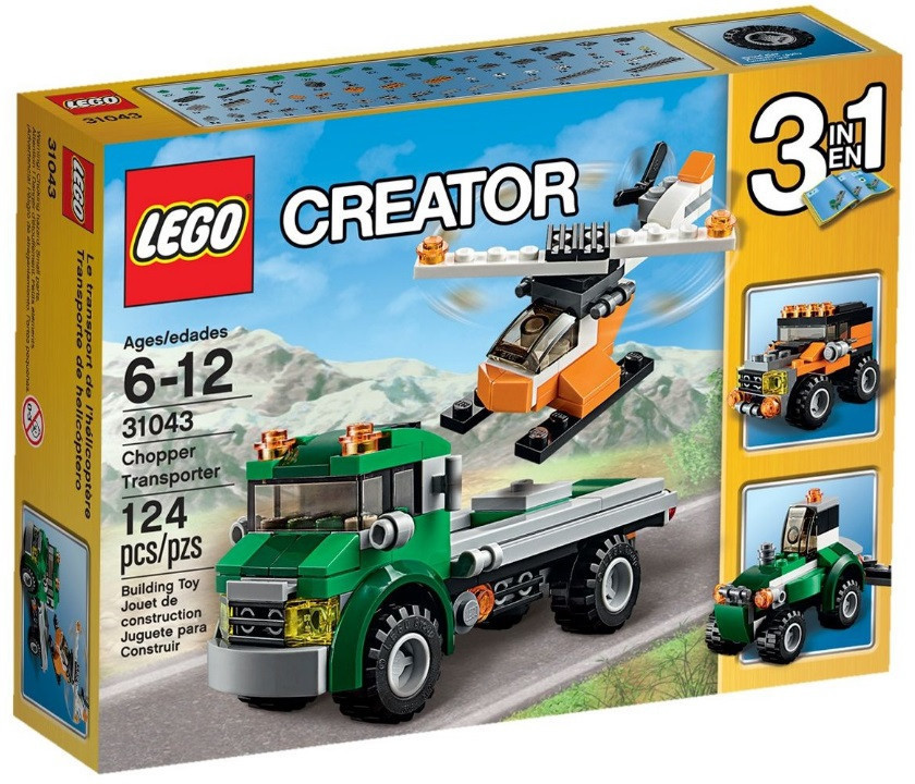 31043 Lego Creator Перевозчик вертолета, Лего Креатор