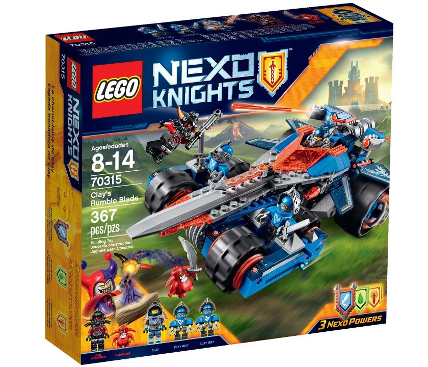 70315 Lego Nexo Knights Устрашающий разрушитель Клэя, Лего Рыцари Нексо