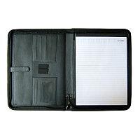 Папка для конференций, А4(33x25x2см), кожзам, блокнот, черная Foska