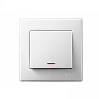 705-0202-111 Выключатель с подсветкой, белый
