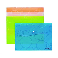 Папка с кнопкой А4, 335х 235мм, пластик Shuter Ipopo