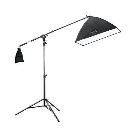 """Студийный софтбокс 50×70 на 1 лампу 40Ватт на стойке с Перекладиной """"журавль"""", фото 2"""