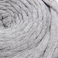 Пряжа трикотажная широкая 50м/160гр, ширина нити 7-9 мм (320 серый меланж) МИКС