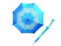 Зонт трость голубое с белым, фото 1