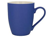 Кружка керамическая синяя с прорезиненным покрытием