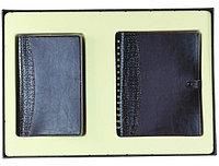 Набор из ежедневника и визитницы на три файла