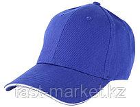 Бейсболки 6-панельные, 100% хлопок, синяя