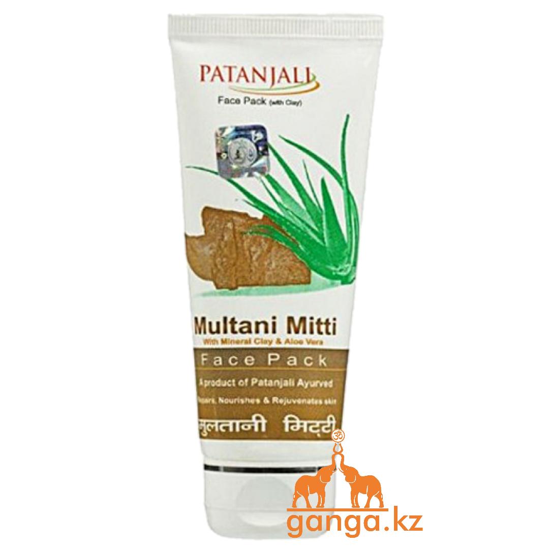 Маска для лица с лечебной глиной Мултани Митти (Multani Mitti Face Pack PATANJALI),60 гр