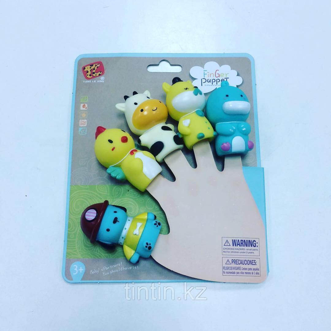 Набор из 5 резиновых игрушек - Пальчиковый театр