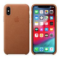 Apple iPhone XS Max, Leather Case - Saddle Brown аксессуары для смартфона (MRWV2ZM/A)