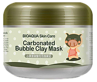 Пузырьковая угольная маска BioAqua Carbonated Bubble Clay Mask
