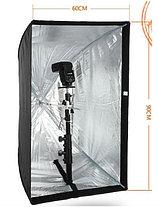 Софтбокс 60X90 см на стойке с головкой для вспышки, фото 3