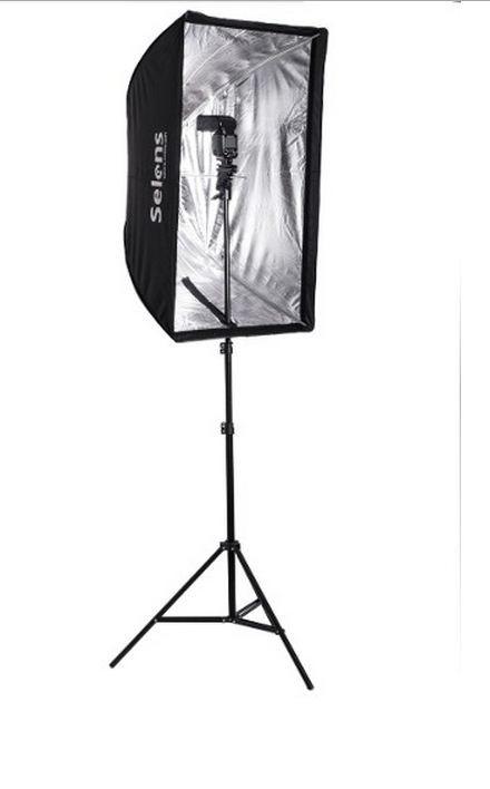 Студийный софтбокс 60 см × 90 см на стойке с головкой для вспышки