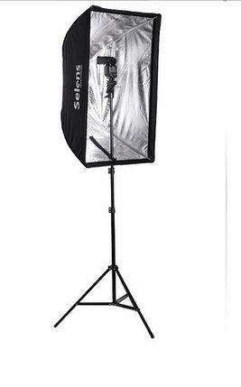 Студийный софтбокс 60 см × 90 см на стойке с головкой для вспышки, фото 2