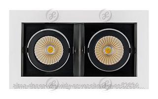 Светильник CL-KARDAN-S180x102-2x9W Day (WH-BK, 38 deg)