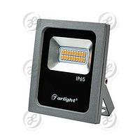 Светодиодный прожектор AR-FLAT-10W-220V Yellow (Grey, 120 deg)