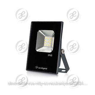 Светодиодный прожектор AR-FLAT-ICE-10W-220V Day (Black, 120 deg)