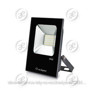 Светодиодный прожектор AR-FLAT-ICE-20W-220V White (Black, 120 deg)