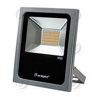 Светодиодный прожектор AR-FLAT-30W-220V Yellow (Grey, 120 deg)