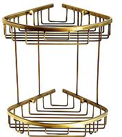 Полка для ванной угловая 3882 (бронза)