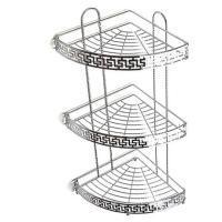 Полка для ванной угловая 3883 (серебро)