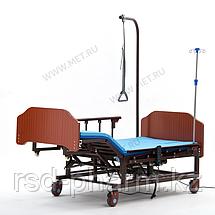 MET REVEL NEW Медицинская кровать для лежачих больных с электрорегулировками, переворотом и туалетом, фото 2