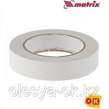 Лента клейкая, двусторонняя белая 25 мм  х 5 м. MATRIX