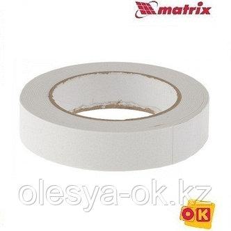 Лента клейкая, двусторонняя белая 25 мм  х 5 м. MATRIX, фото 2
