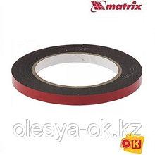 Лента клейкая, двусторонняя черная 9 мм  х 5 м. MATRIX