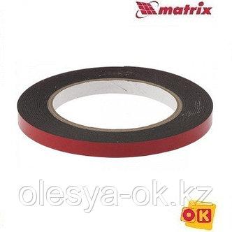 Лента клейкая, двусторонняя черная 9 мм  х 5 м. MATRIX, фото 2
