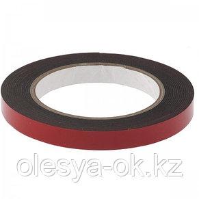 Лента клейкая, двусторонняя черная 12 мм  х 5 м. MATRIX, фото 2