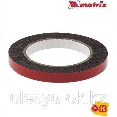 Лента клейкая, двусторонняя черная 12 мм  х 5 м. MATRIX