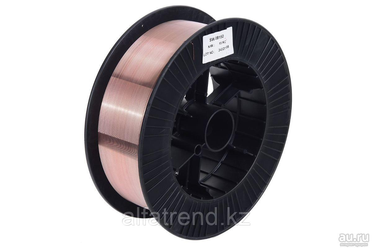 Проволока сварочная омедненная  диаметром 0,8-мм (кассета 15 кг)