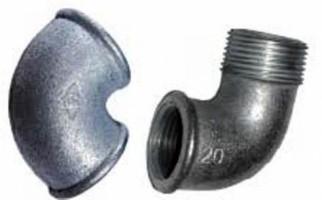 Чугунный отвод с резьбой d25