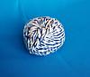 Шпагат хлопчатобумажный сине-белый клубочек 50 м