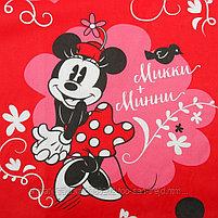 """Постельное белье""""Микки Маус и его друзья: Микки и Минни"""" 1,5сп бязь, фото 6"""
