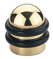 Дверной стопор, диаметр 39 мм, материал: латунь полированная