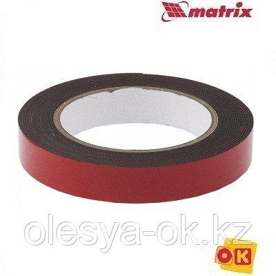 Лента клейкая, двусторонняя черная 19 мм  х 5 м. MATRIX