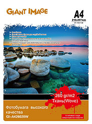 Фотобумага А4 GIANT IMAGE GI-A426020W 20 Л. 260 Г/М2 ткань
