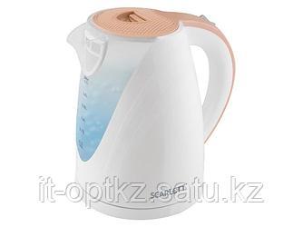 Электрический чайник Scarlett SC-EK18P43 бело-бежевый