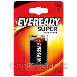 Элемент питания 6F22 9V Eveready SHD солевая 1 штуки в блистере